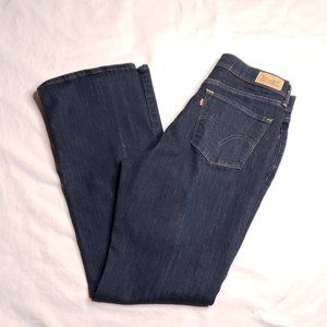 Levis 512 Size 10 Perfectly Slimming Dark Wash
